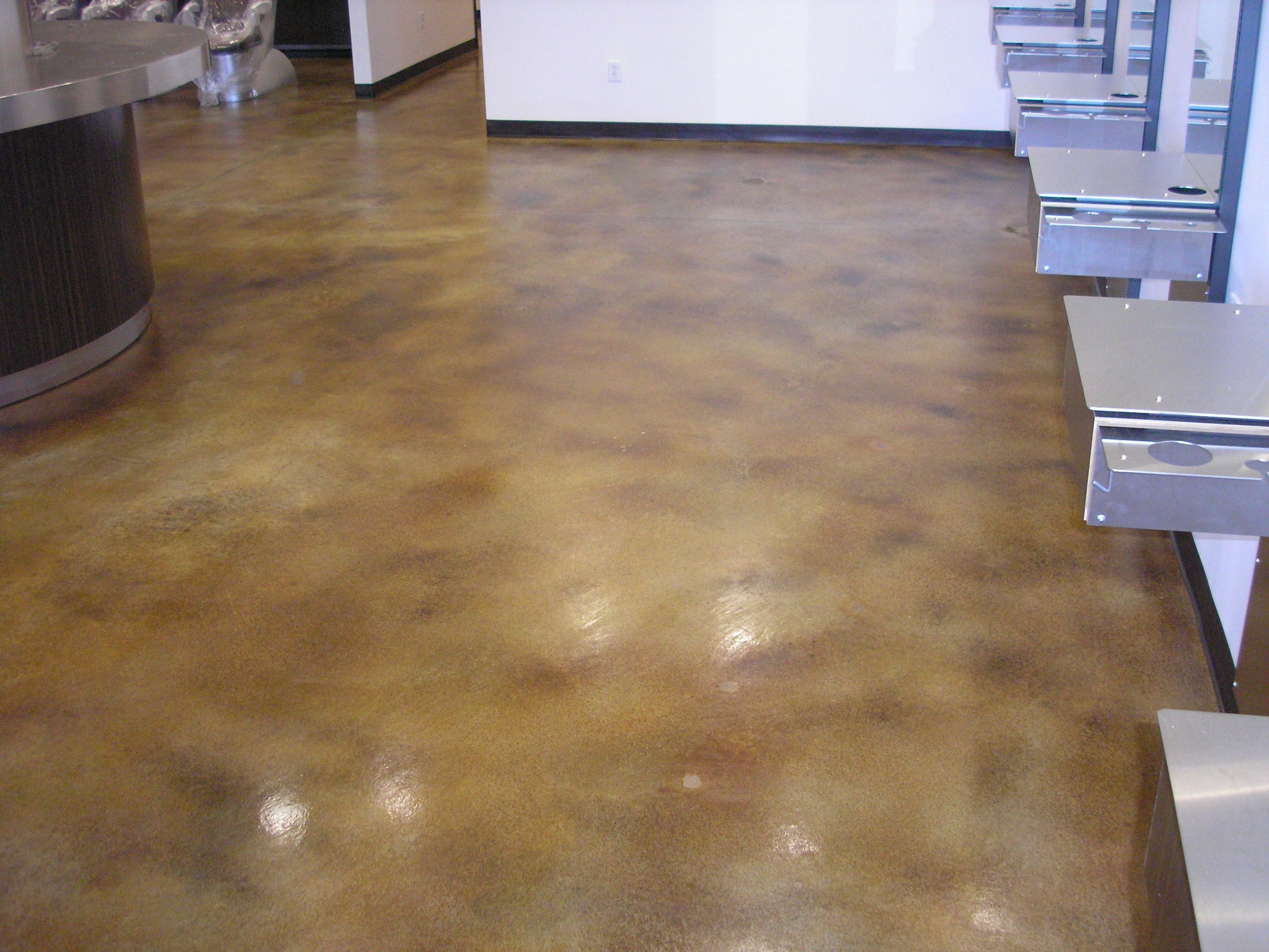 Stained concrete floors orlando fl concrete for How to care for stained concrete floors