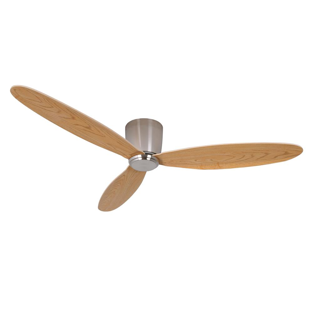 Lucci Air Airfusion Radar 52 In Dc Brushed Chrome Ceiling Fan With Remote Control 21051901 Ceiling Fan With Remote Flush Mount Ceiling Fan Dc Ceiling Fan