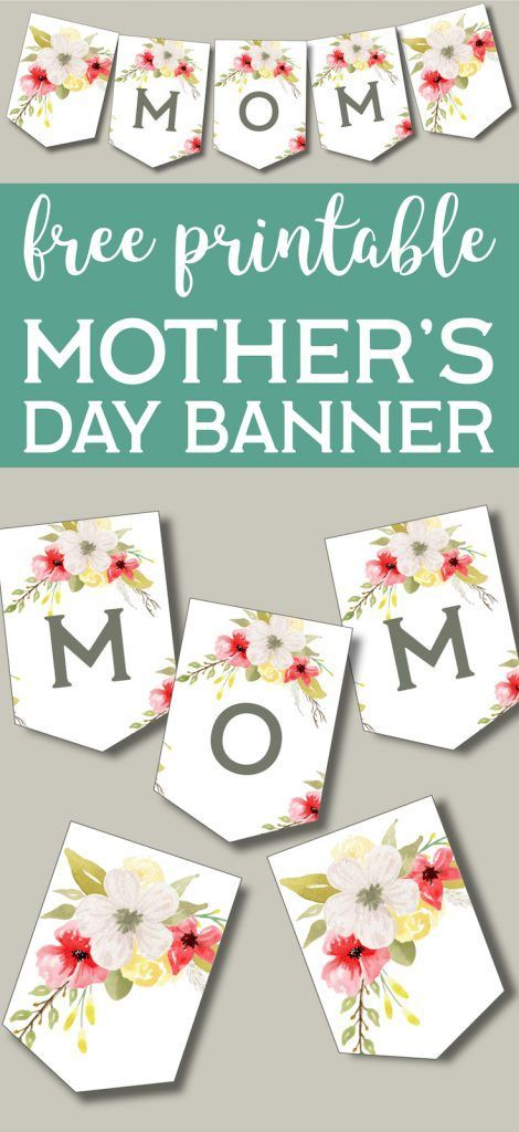 Printable Mother39s Day Banner  Paper Trail Design Printable Mothers Day Banner  Paper Trail Design
