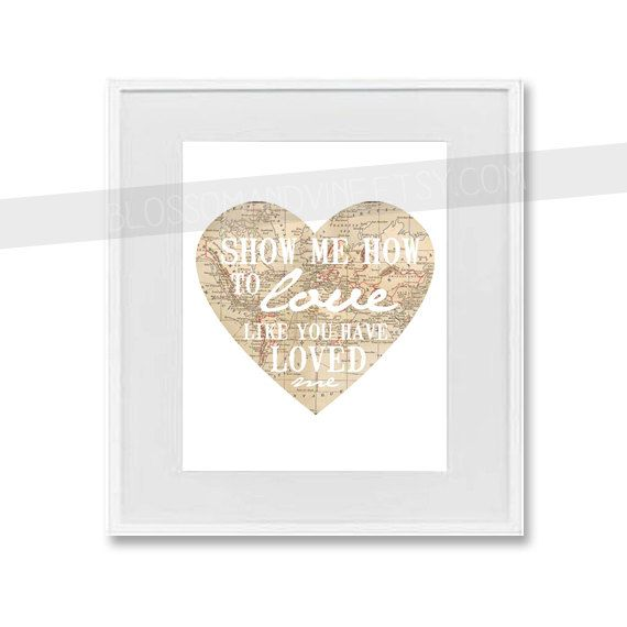 Love like you world map heart print 8x10 bible verse wall art love like you world map heart print 8x10 bible verse wall art kingdom collection gumiabroncs Images