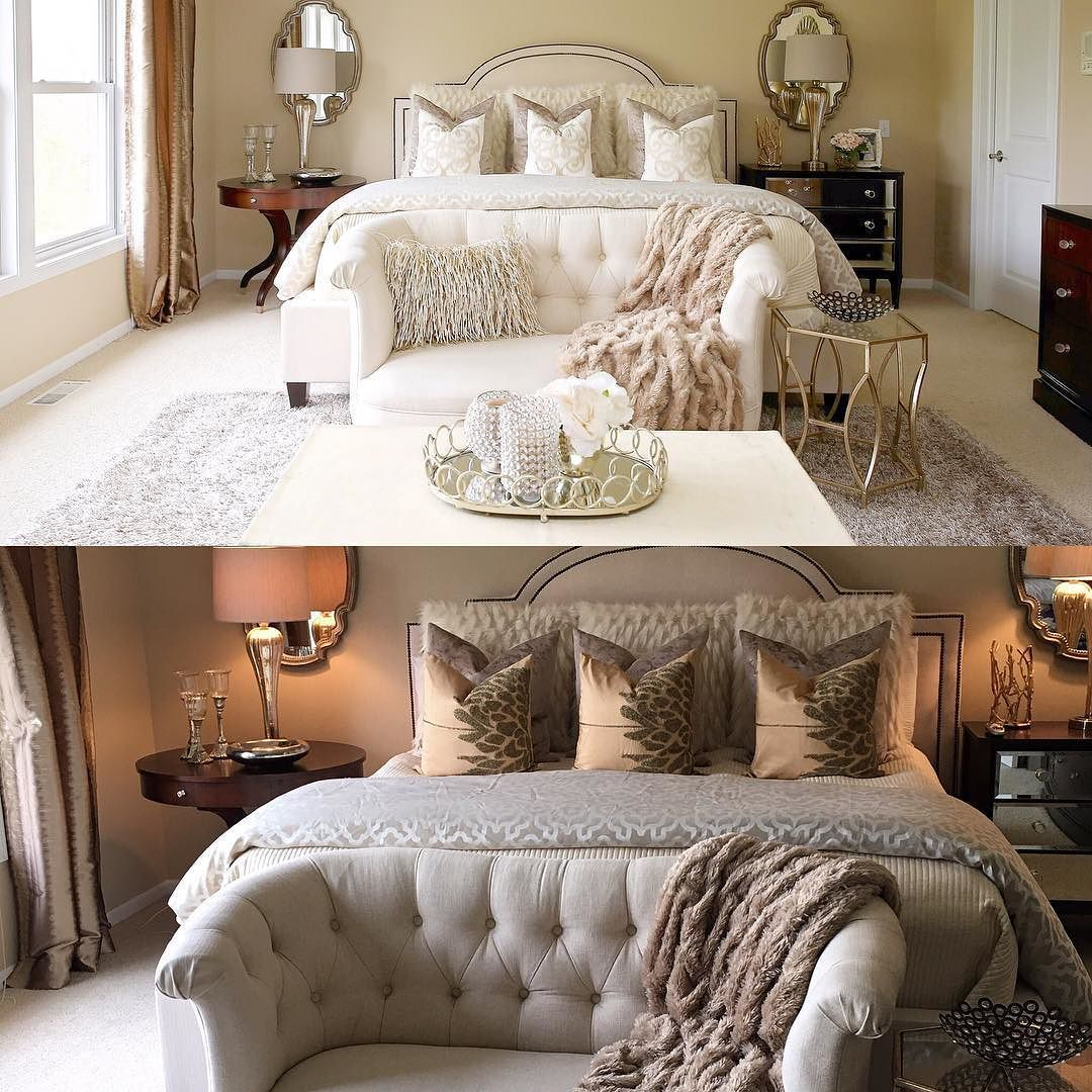 Master Bedroom Up Or Down i need your help! i can't decide on which pillows to stick with on
