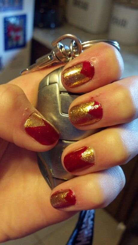 Iron man nails. Ongles De L\u0027homme De FerStyles