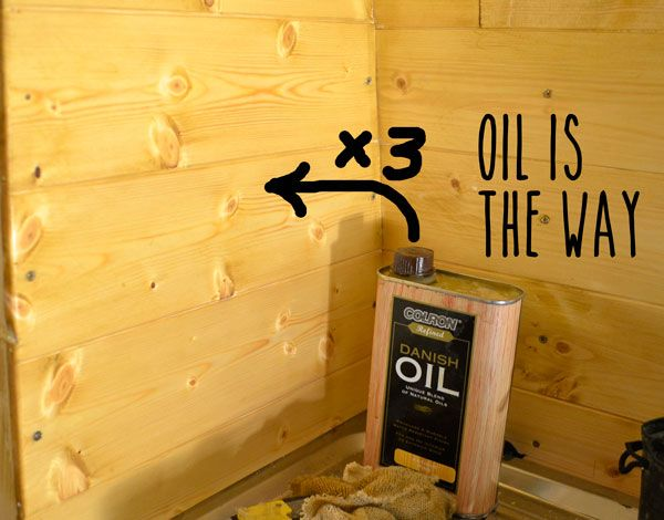 Finishing The Pine Cladding Staining Wood Cladding Danish Oil