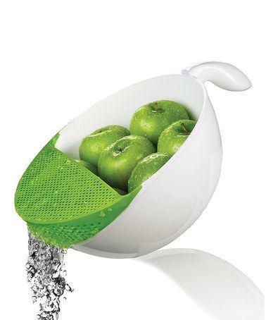 Green Soak & Strain 5.3-Qt. Washing Bowl #zulily #zulilyfinds