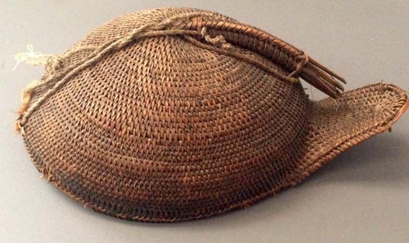 basket woven hat , Apatani Arunachel Pradesh India (archives sold Singkiang)