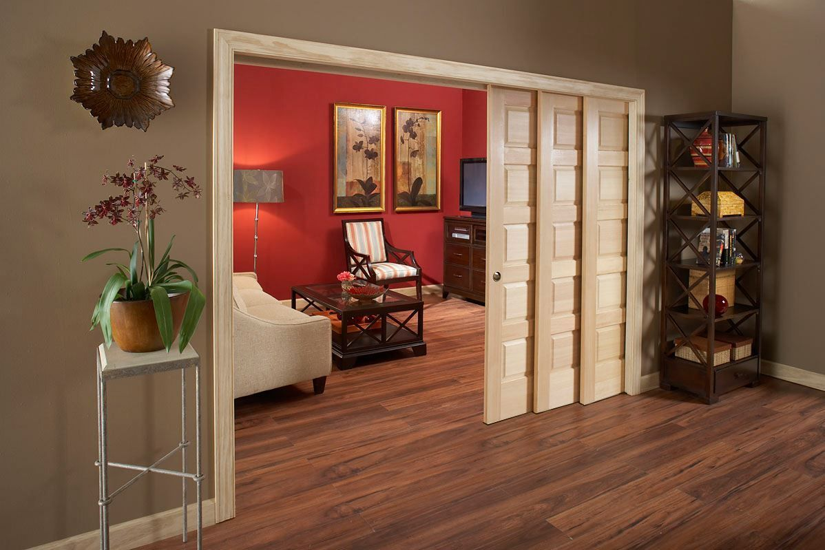 Triple Pocket Doors Open Up Room With The Ability To Close It Back Off Interior Pocket Doors Doors Interior Sliding Doors Interior