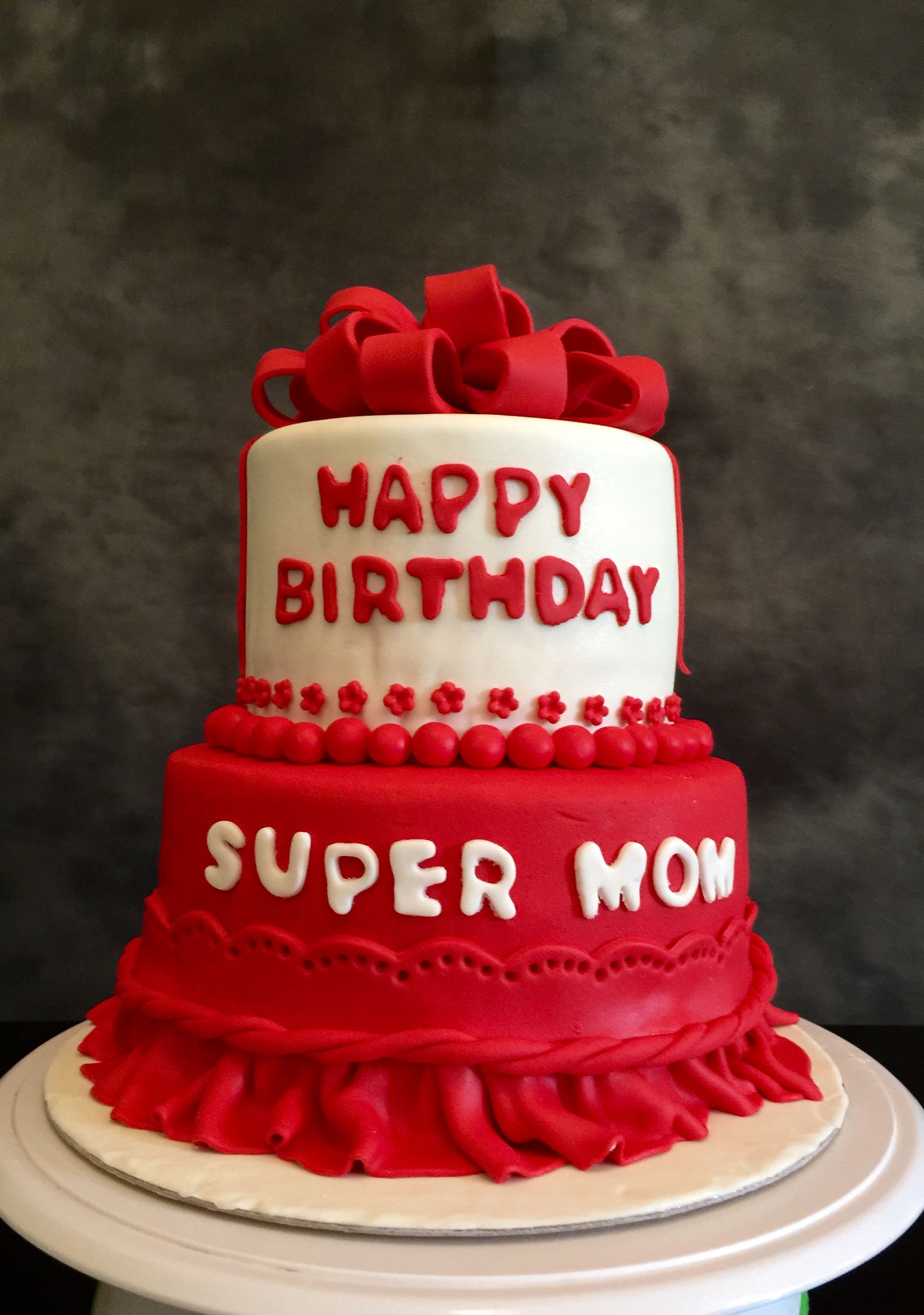 Swell Super Mom Birthday Cake With Images Birthday Cake For Mom Birthday Cards Printable Opercafe Filternl