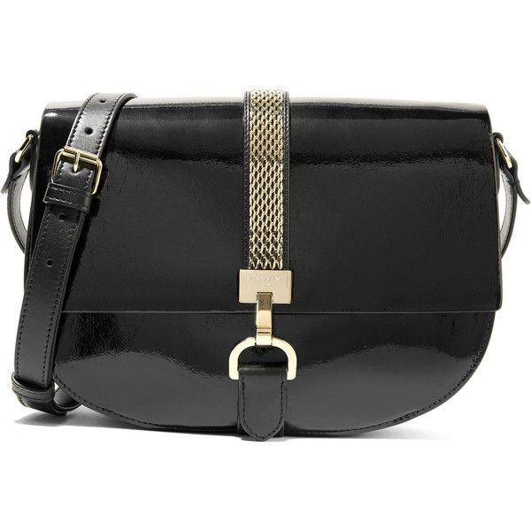 9e6fe96427f Lanvin Lien smooth and patent-leather shoulder bag ( 1