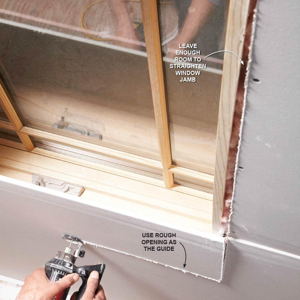Drywall installation advice pinterest drywall for Drywall around windows