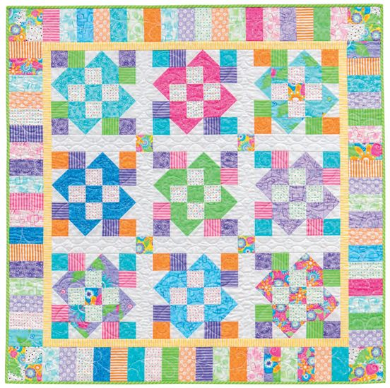 Rolling Along baby quilt by Nancy Mahoney | The Big Book of Baby ... : how big are baby quilts - Adamdwight.com