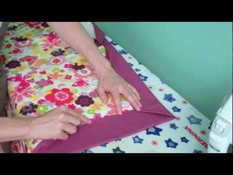 The Self Binding Baby Quilt Receiving Blanket Youtube Quilt Binding Self Binding Baby Blanket Quilts