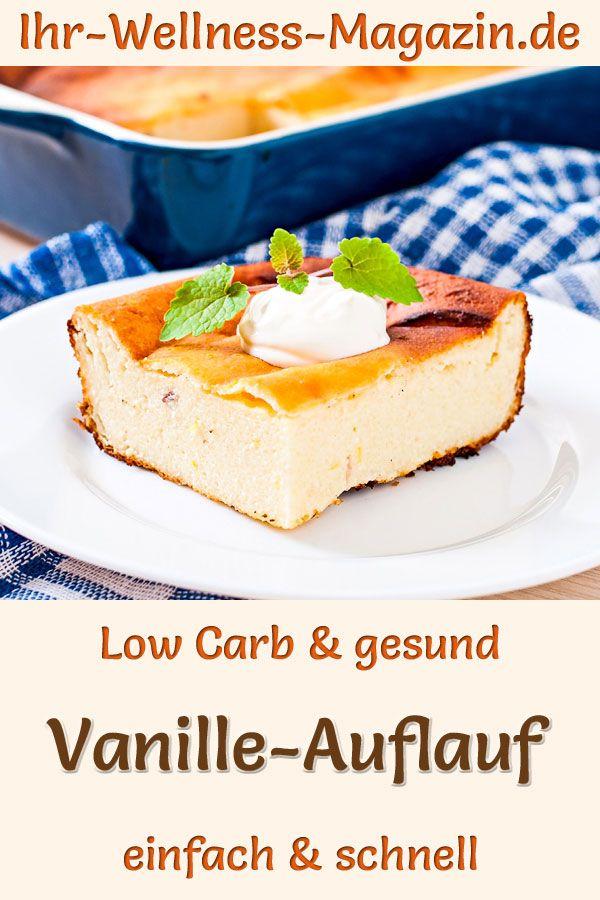 Vanille-Quarkauflauf – gesundes Low-Carb-Rezept zum Abnehmen