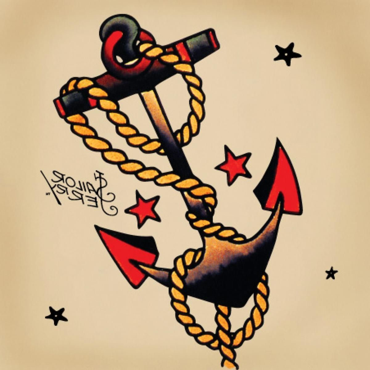 American Traditional Anchor Tattoo Tattoo Meanings