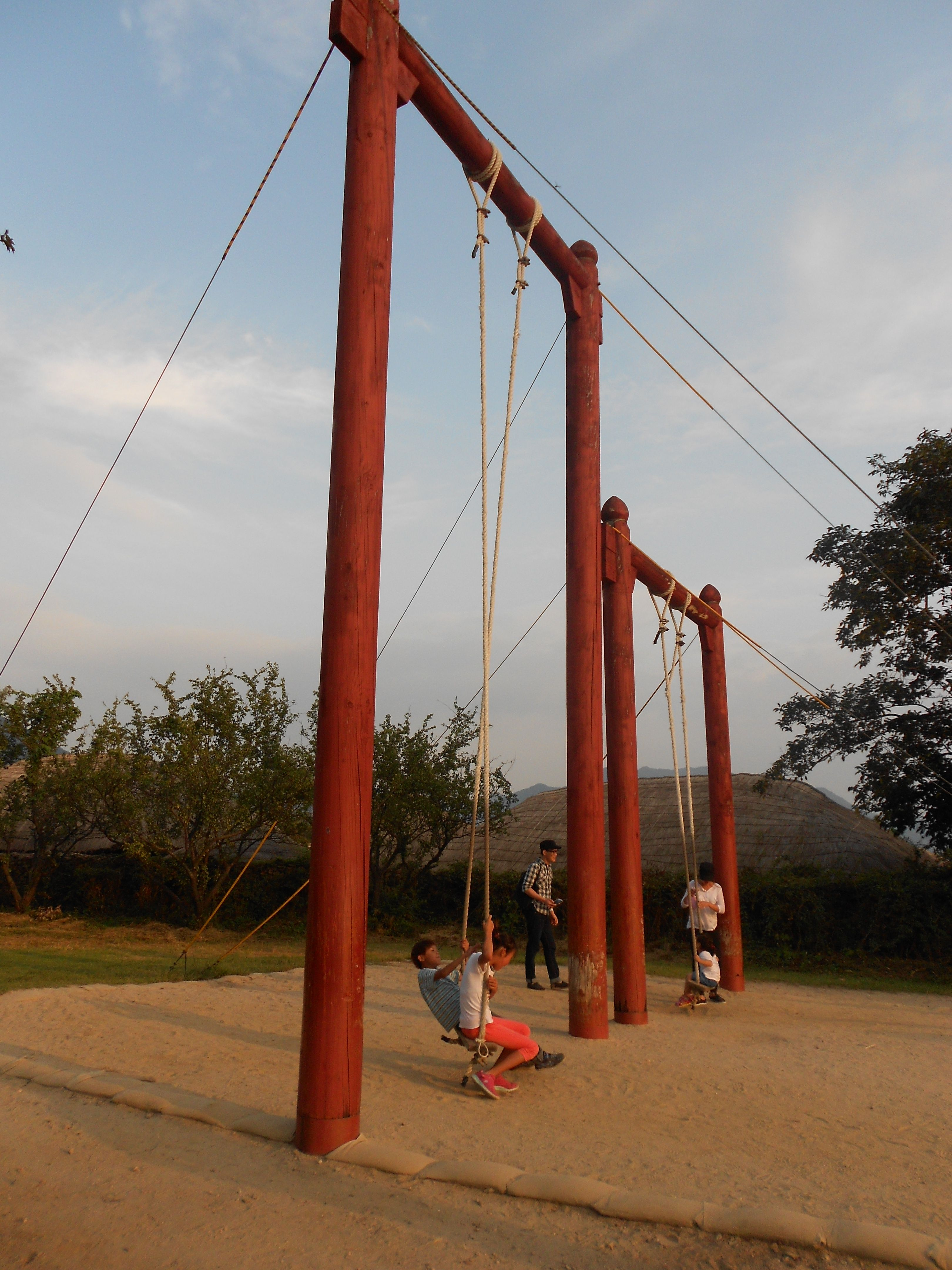 Traditional Swing For Living Room: Kune (그네) A Traditional Korean Swing. -Naganeupseong Folk