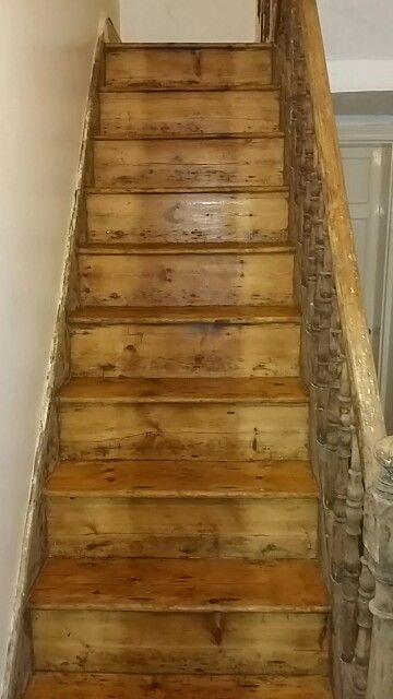 150 Year Old Pine Stairs Sanded And Sealed
