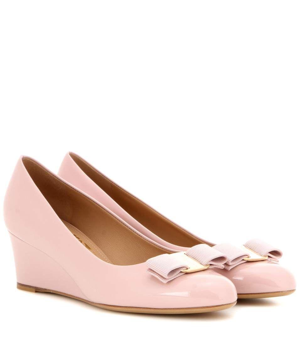 f83195d360c4 SALVATORE FERRAGAMO Mirabel Patent Leather Wedges.  salvatoreferragamo   shoes  pumps