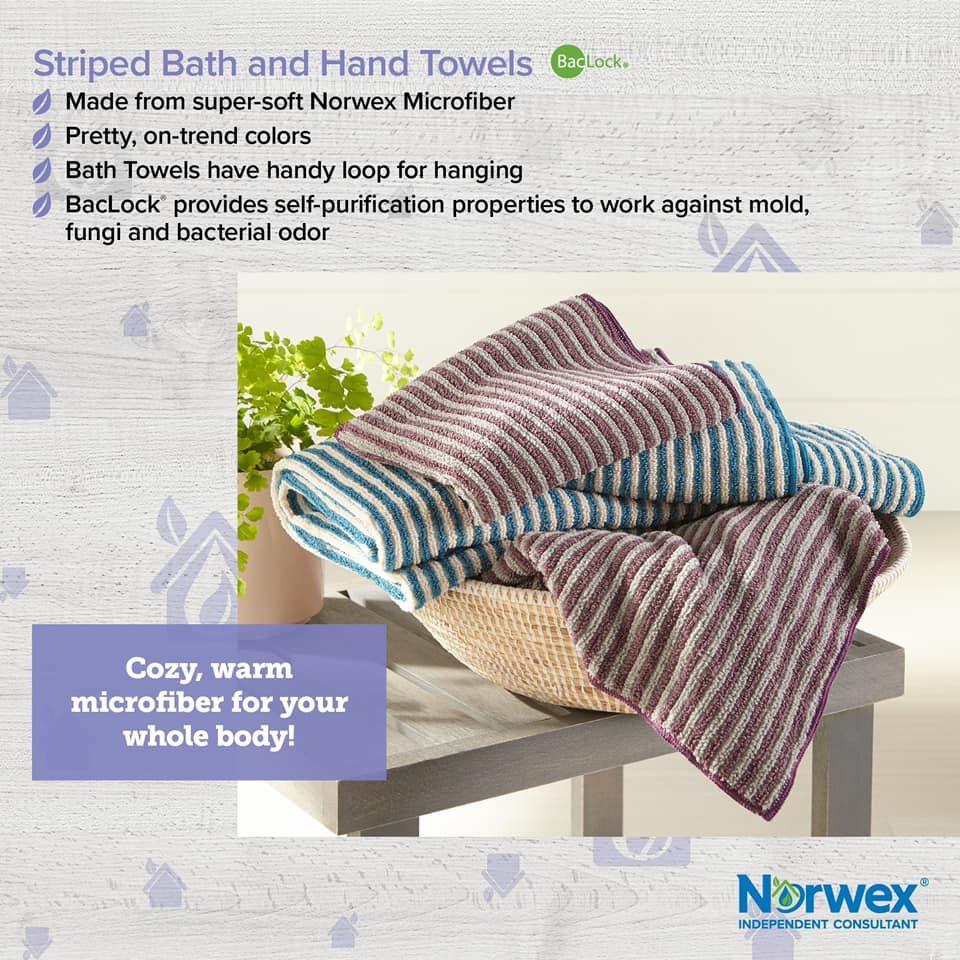 Bath Towel Stripes Norwex Body Cloths Norwex Towels Norwex Microfiber