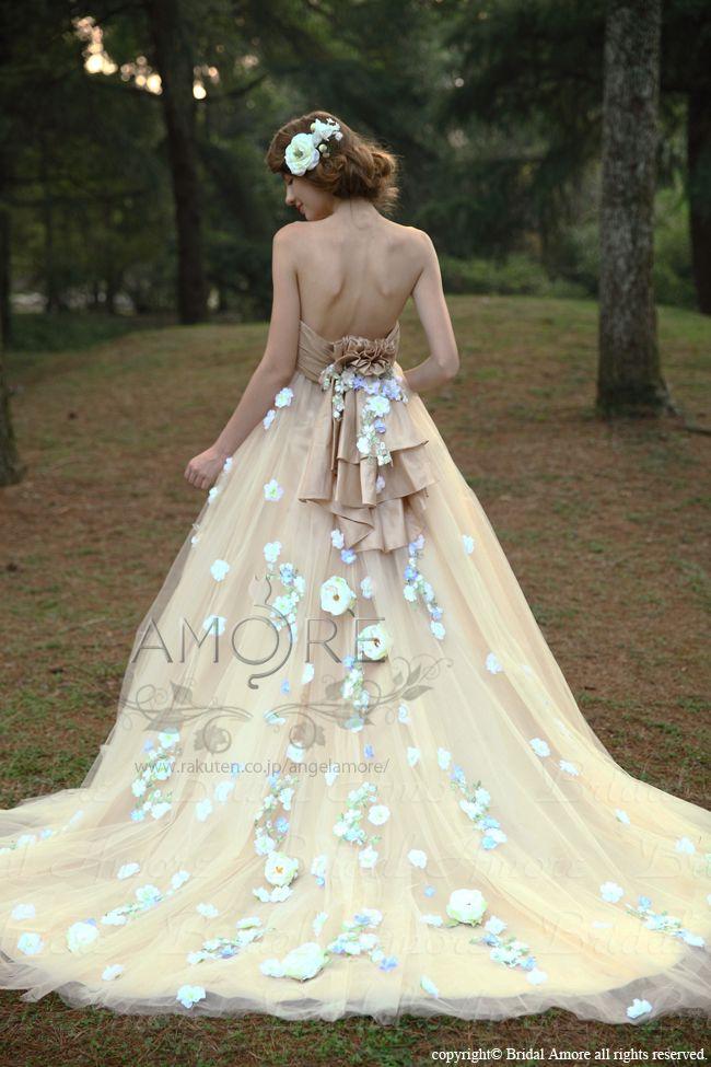 8823c58b3b601  楽天市場  送料無料 ウェディングドレス_ウエディングドレス_Aライン_プリンセス(w2030)二次会ドレス:ブライダルアモーレ