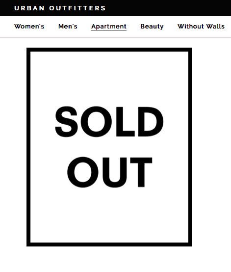 Sold Out Urban Outfitters Business Signs Sold Out Sign Print Planner