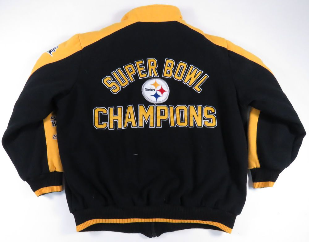 PITTSBURGH STEELERS 6-TIME SUPER BOWL CHAMPIONS QUILTED JACKET NFL MENS XXL  (eBay Link) d1e29d9b2
