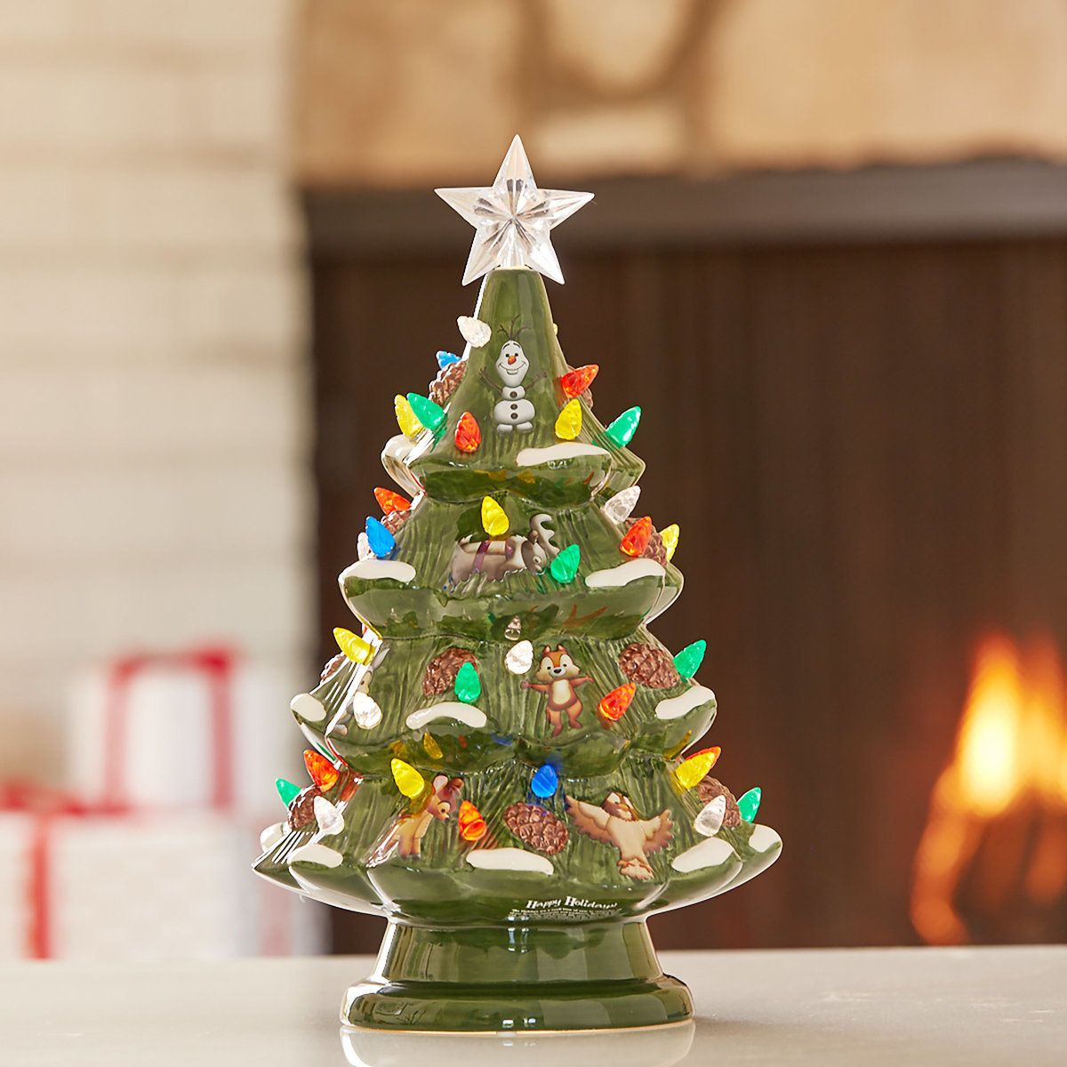 Disney Retro Ceramic Light Up Tree Light Up Tree Disney Decor Holiday Decor