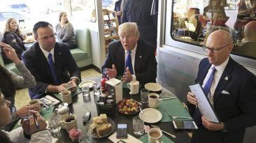 Eleccciones en EE.UU.: Los candidatos a la hora del almuerzo. April 10, 2016.