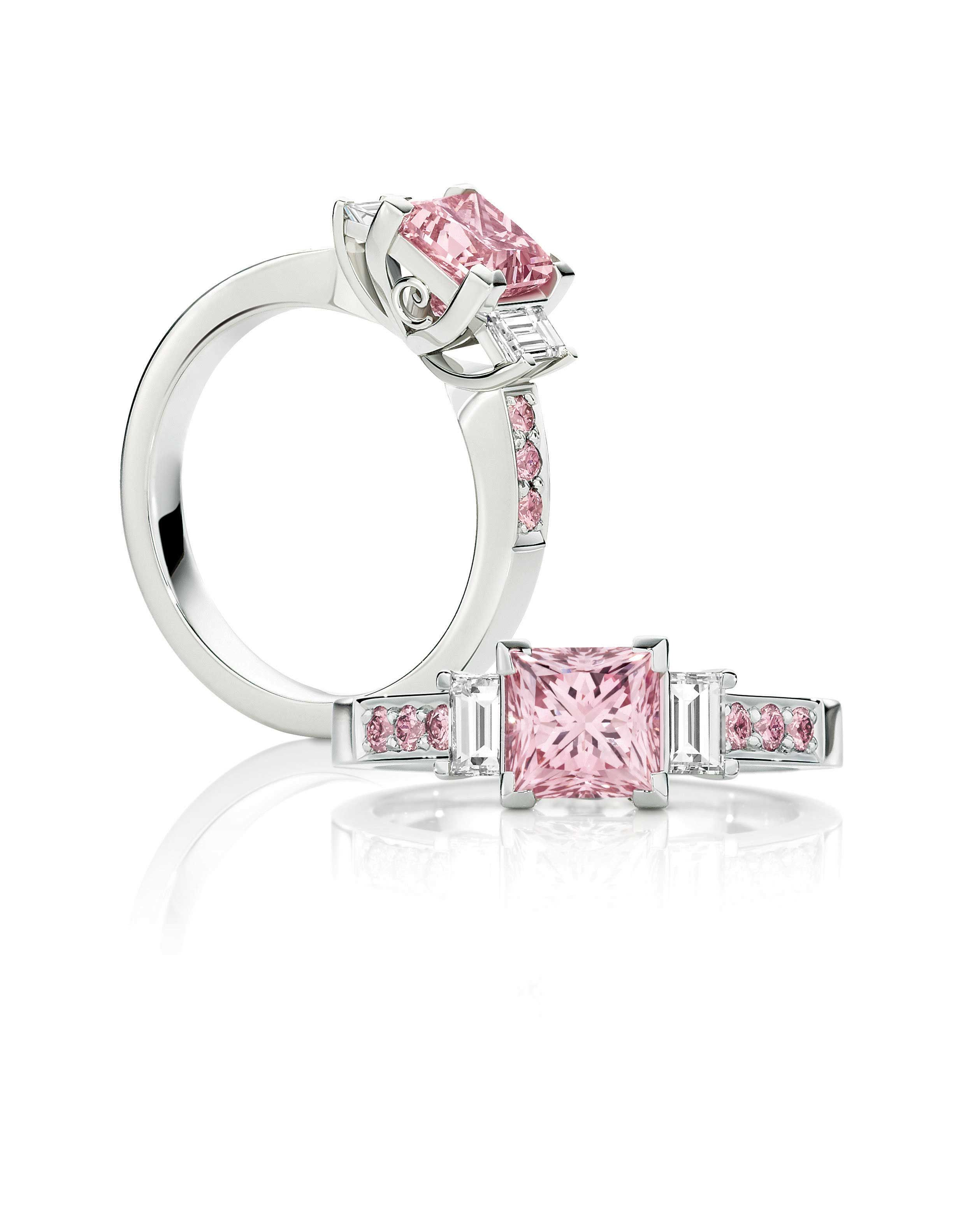 set diamond christie rectangular cornered rings cut weighing a impressive pinterest fancy s pink modified pin ring colored an just with approximately diamonds carats intense