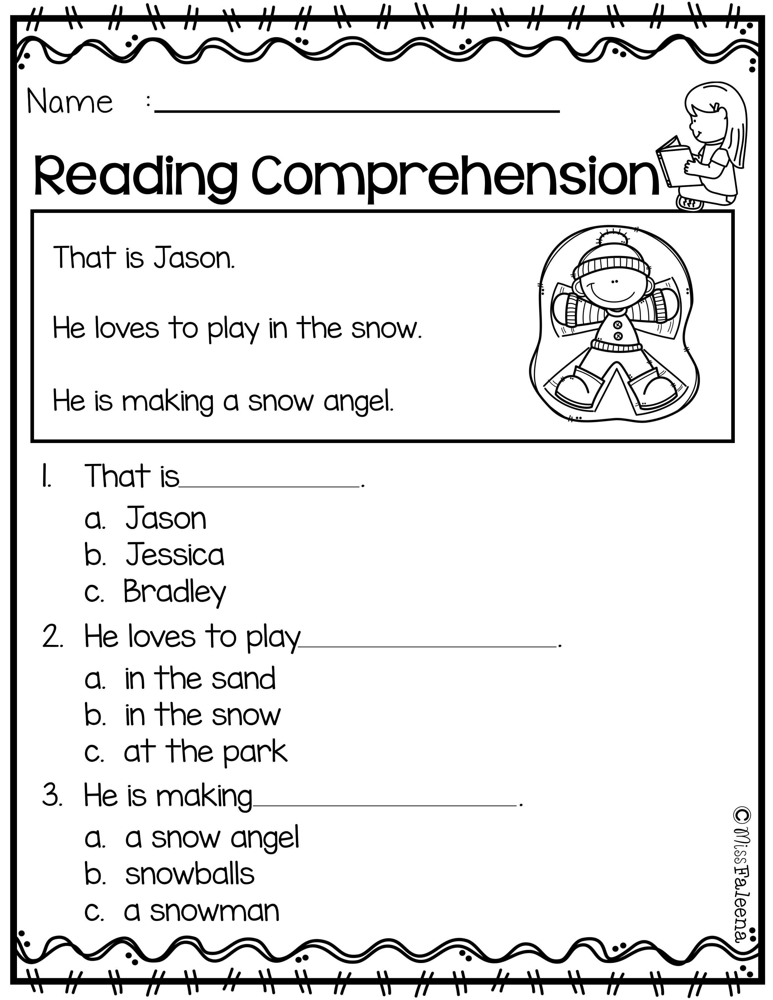 - Free Reading Comprehension Reading Comprehension Worksheets