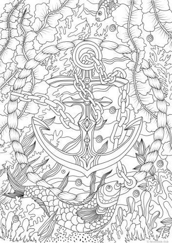 Ocean Life – Anchor | Mandalas, Colorear y Diseños de bordados