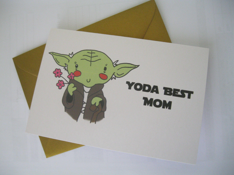 Handmade Stars Wars Birthday Card for mum Yoda best mum Would