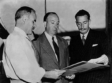 Alfred Hitchcock & Salvador Dali