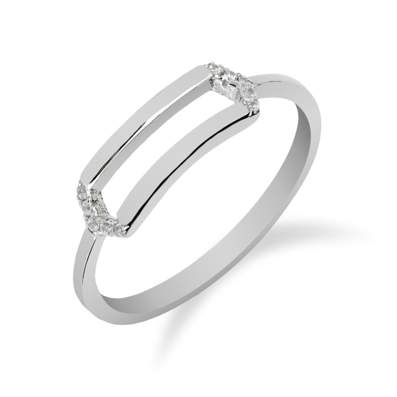 Rectangle Silhouette Ring In 925 Sterling Silver With Cubic Etsy In 2020 Beautiful Silver Rings Silver Rings Handmade 925 Silver Rings