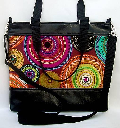 """City bag - circles"" kabelka / laude - SAShE.sk - Handmade Veľké tašky"