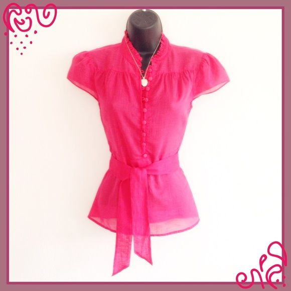 JCREW DELICATE DETAILED TOP FUNCTIONAL BUTTONS ZIP Gorgeous color! Semi sheer. Victorian appeal. Side zip. Can be worn with sash, with out sash or with a belt. The buttons are functional so you can achieve a variety of looks. New condition. Save 25% off bundles J. Crew Tops