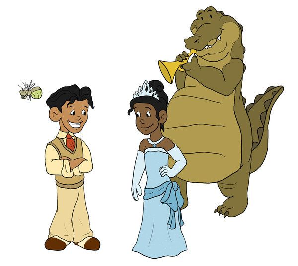 Tiana Prince Naveen Ray And Louis The Princess And The Frog