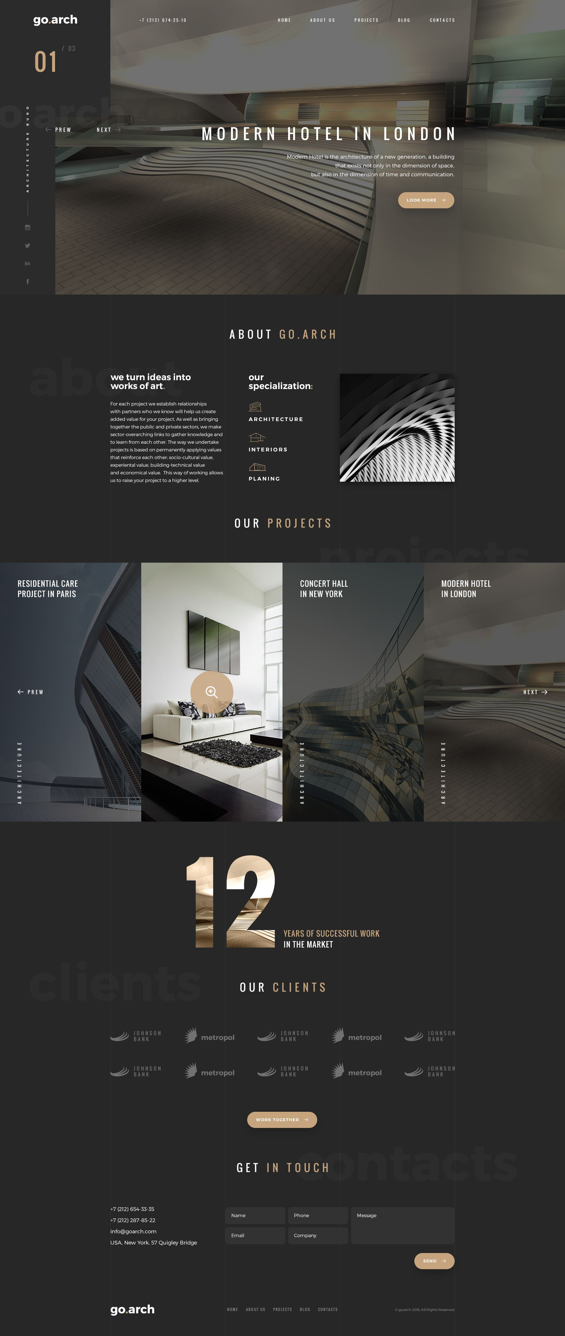 go.arch - Architecture PSD Template | Psd templates, Luxury and ...