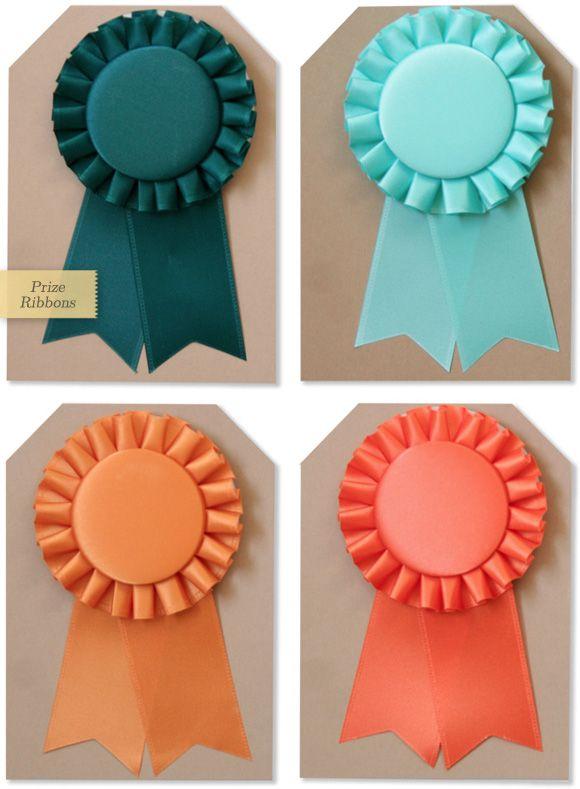 make your own award ribbon rosette medallion prize ribbon