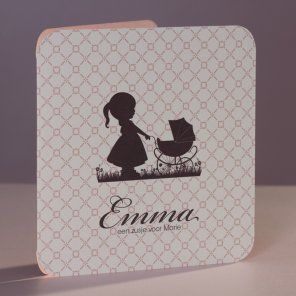 Cute #retro #birthannouncement card, available in pink and blue   Tadaaz www.tadaaz.be