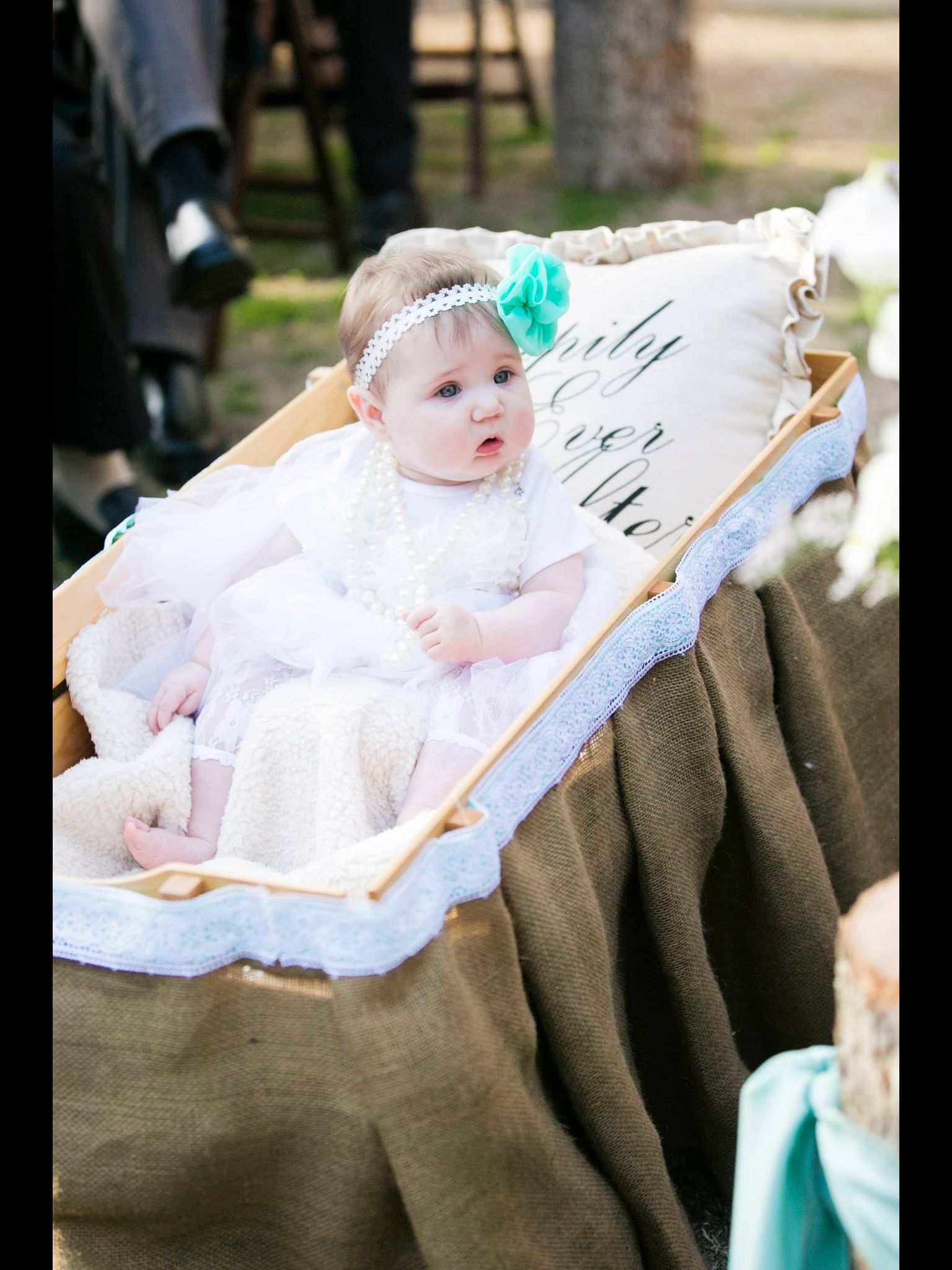 Getting a wagon is a great way to get your flower girl