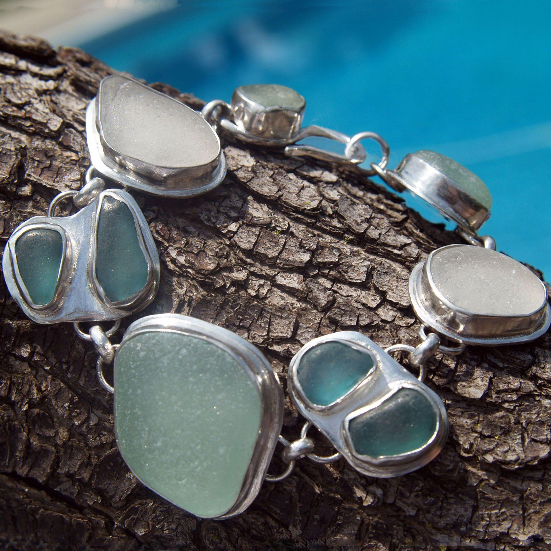 Sea Glass bracelet.