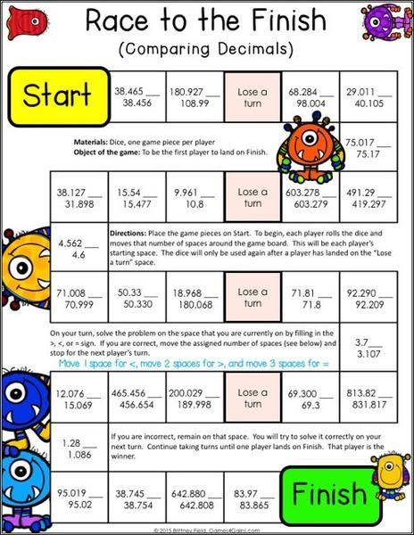 graphic about Printable Decimal Games called Decimals Game titles for 5th Quality Math Decimal video games, Math