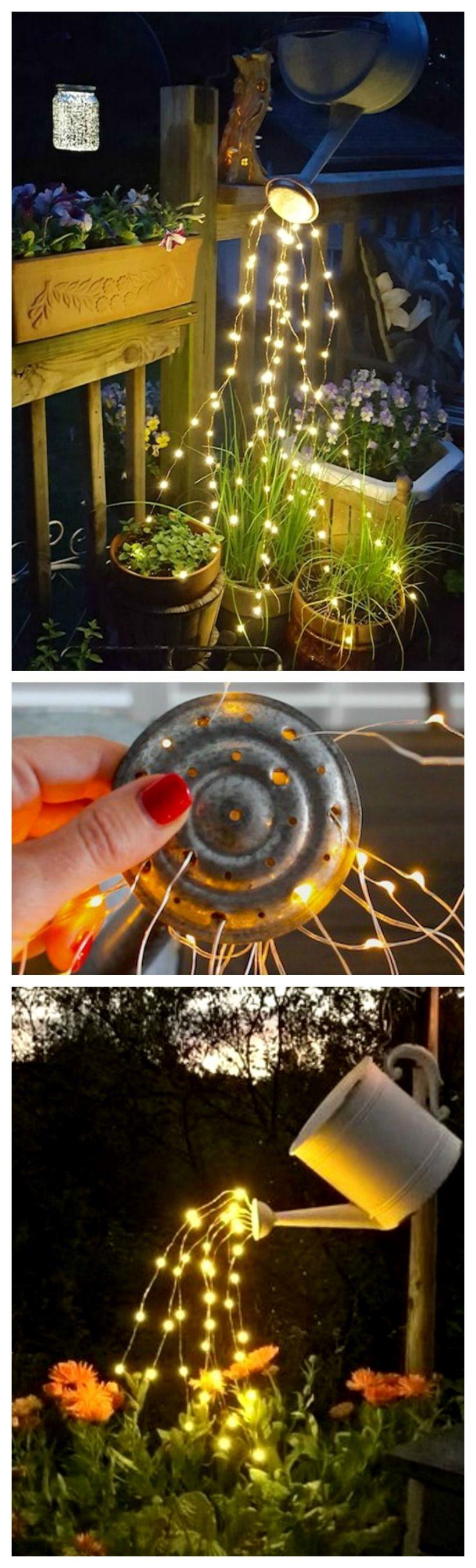 DIY Garden Light Ideas gardenlighting Fairy lights