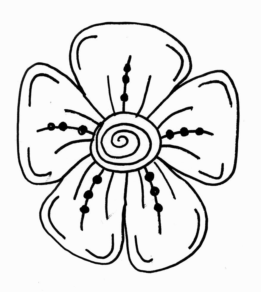 Line Art Drawing Easy : Pictures of flowers easy to draw for more image click