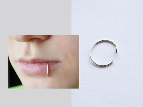 Set 13, Silver Plated, Fake Piercing