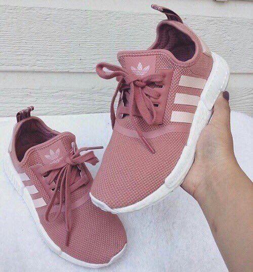 rose colored adidas
