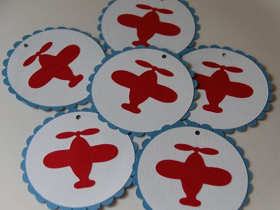 Airplane Favor Tags Airplane Birthday Airplane Baby By Gigglebees