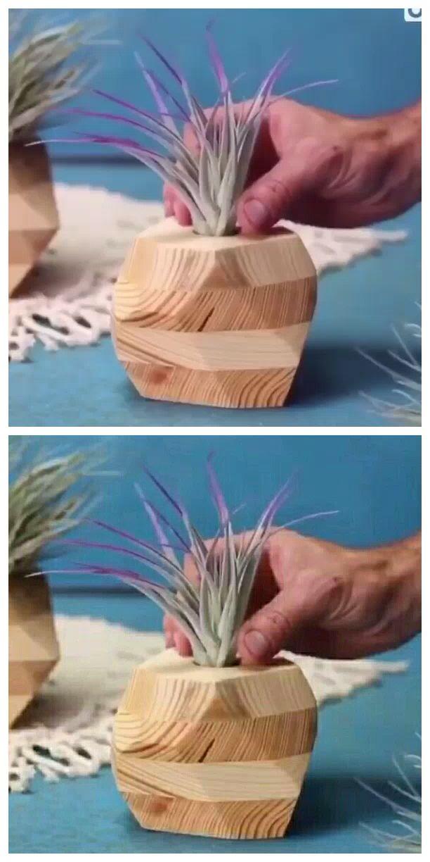 Wood Planter Decor