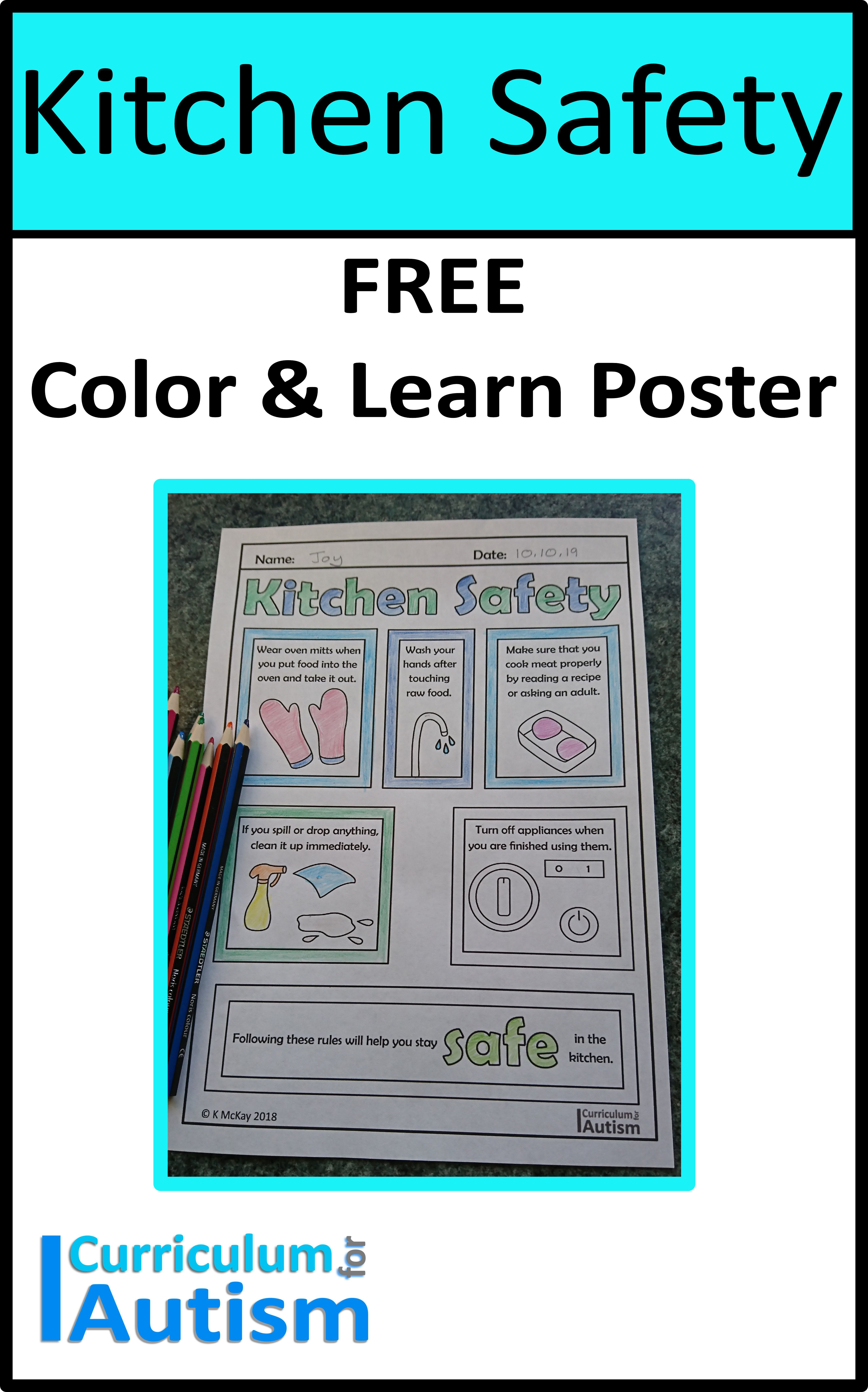 Free Kitchen Safety Poster