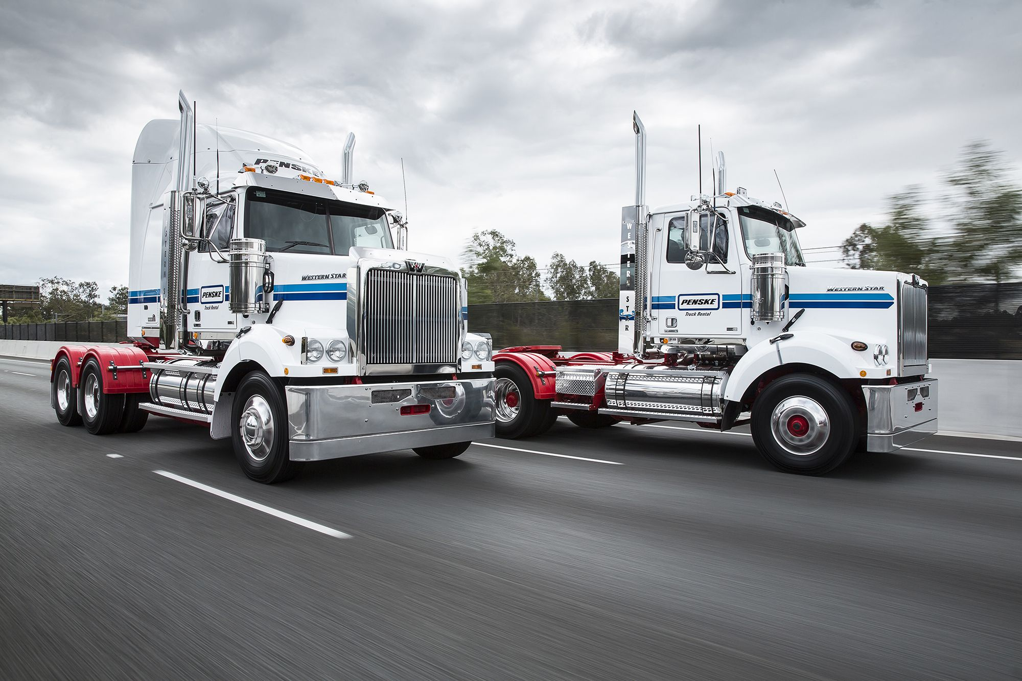 Penske truck rental is now open for business in brisbane australia and rents heavy