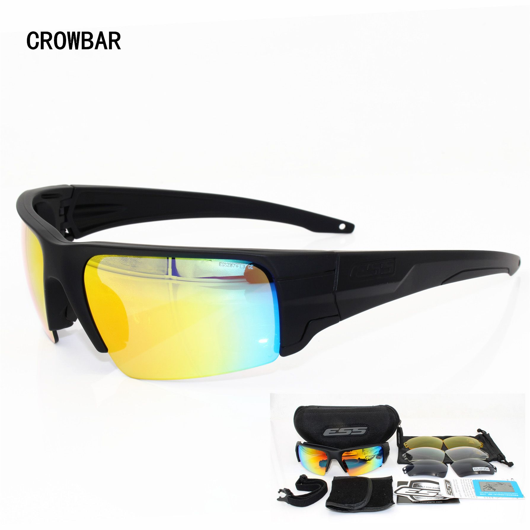 dc792f2061 ESS Brand Crowbar Polarized Tactical Sunglasses Military Glasses TR90  Crossbow Army Goggles Ballistic Test Bullet-Proof Eyewear